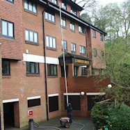Gutter cleaning blocks of flats in Surrey and South London