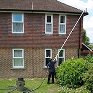Gutter cleaning in residential properties in Kent and East Sussex
